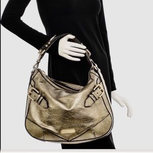 BURBERRY METALLIC GOLD CALFSKIN HIBO